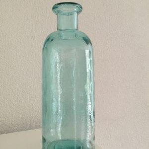 Vaas gerecycled blauw glas