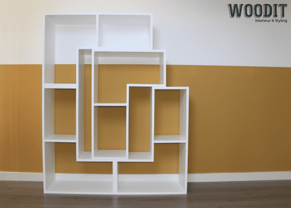 Wandmeubel 4 delen vakkenkast